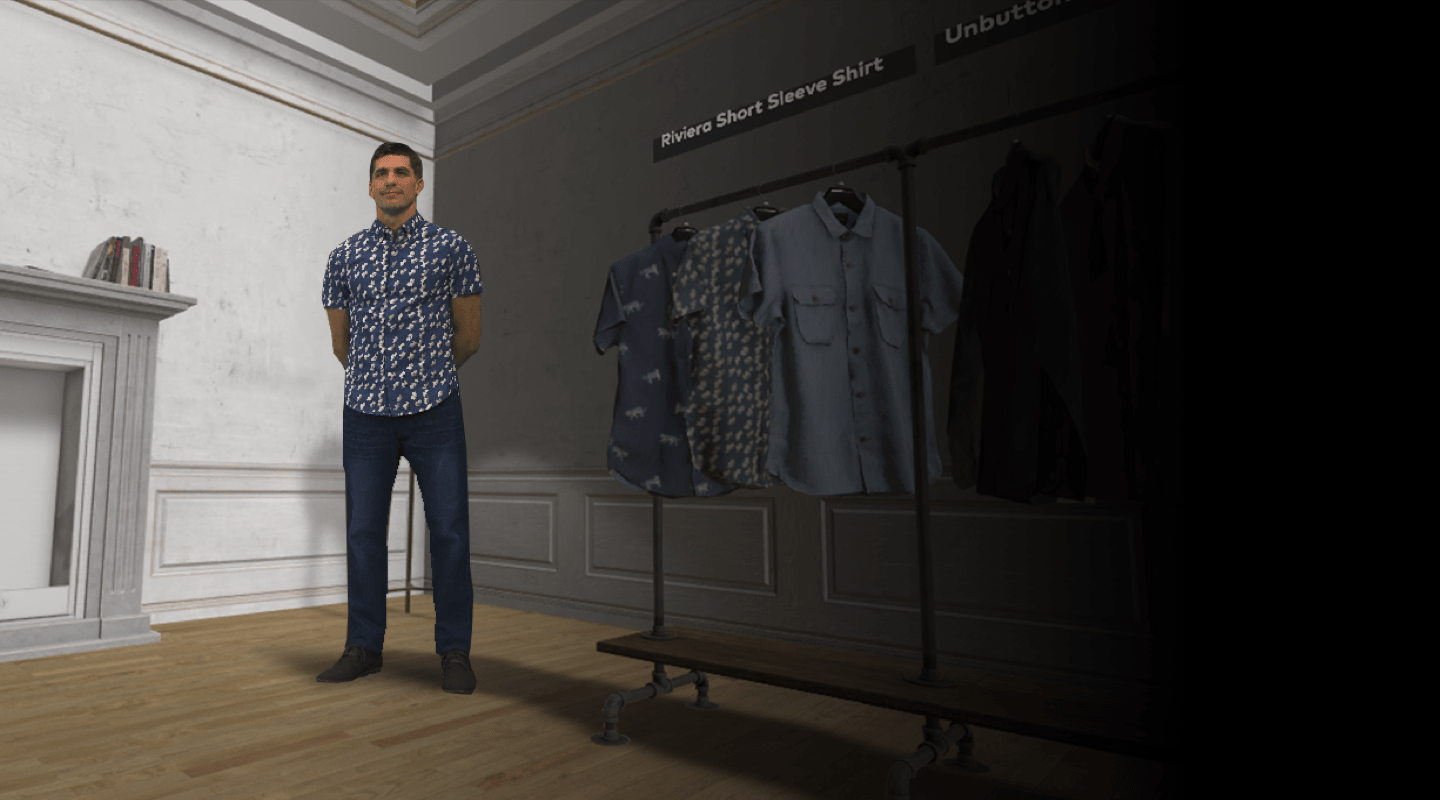 Hologram used in shopping experience